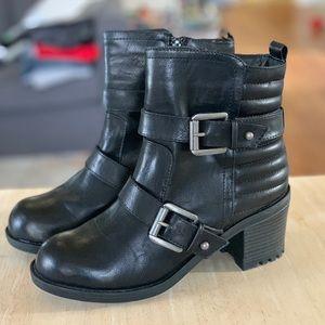 Mia REAGAN heeled MOTO boot
